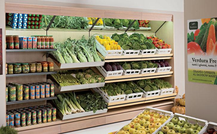 Scaffali Usati Per Negozio Di Frutta E Verdura.Negozio Pagliara Store